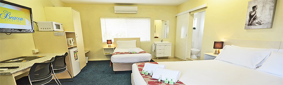 All rooms have Flat Screen TVs, free Foxtel, free WiFi, microwaves and comfortable beds